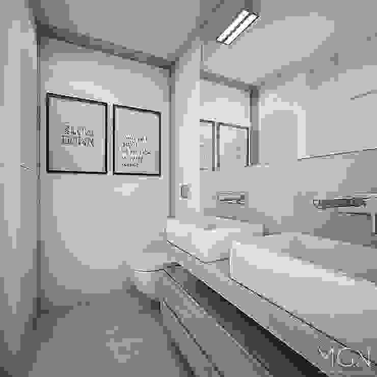 Baños escandinavos de MGN Pracownia Architektoniczna Escandinavo