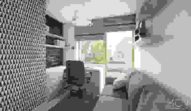 MGN Pracownia Architektoniczna Scandinavian style study/office