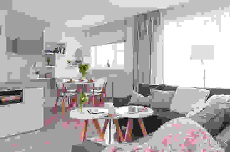 Living room by MGN Pracownia Architektoniczna, Scandinavian