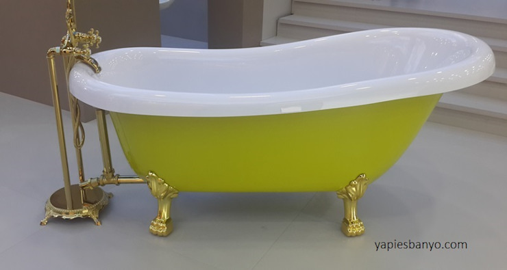 172 x 80 Fıstık Yeşil Ayaklı Küvet Yapıes Banyo Klasik