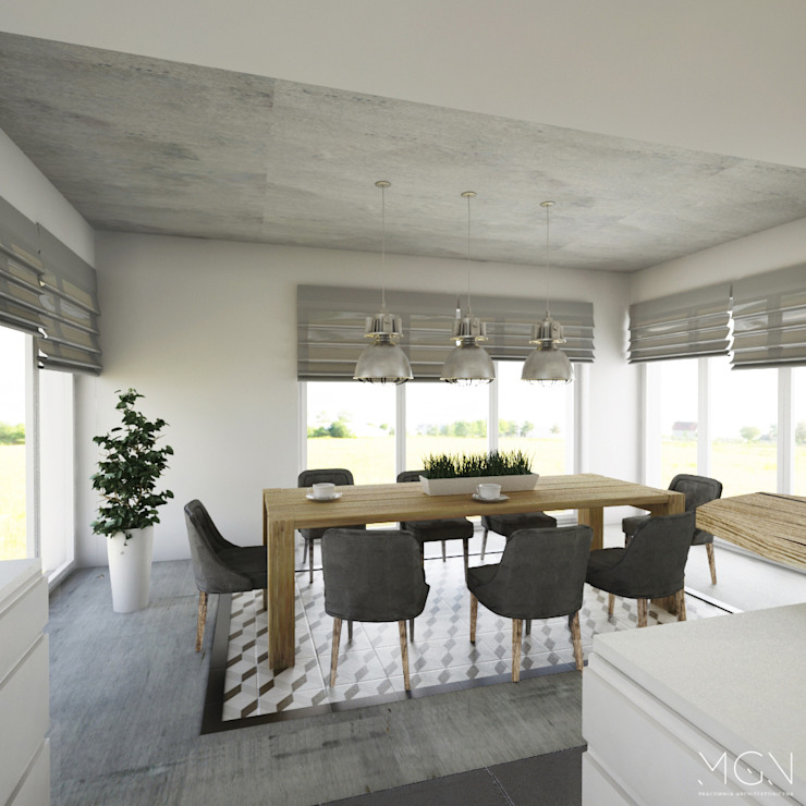 MGN Pracownia Architektoniczna Industrial style dining room