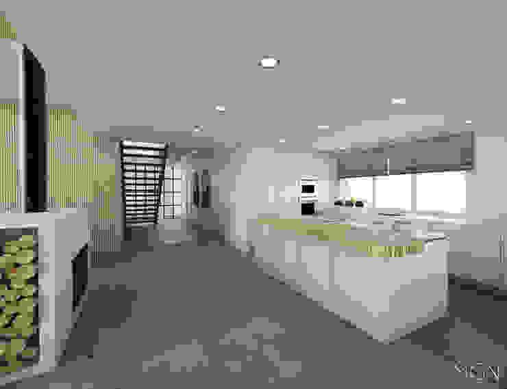 MGN Pracownia Architektoniczna Industrial style kitchen