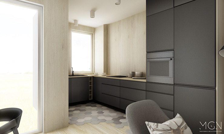 MGN Pracownia Architektoniczna Scandinavian style kitchen