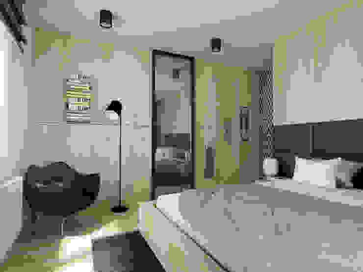 MGN Pracownia Architektoniczna Scandinavian style bedroom