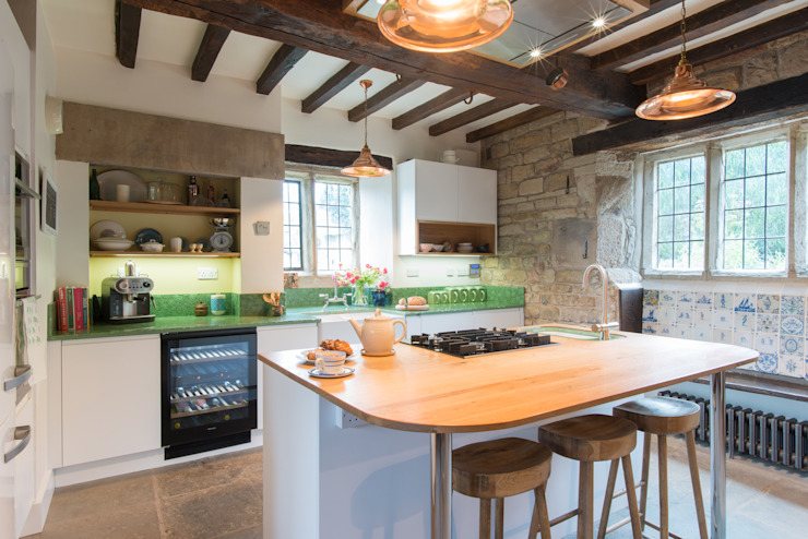 16th Century Manor House - Sheffield Sustainable Kitchens Modern Mutfak Sheffield Sustainable Kitchens Modern