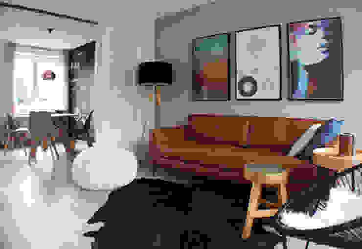 Appartement Amsterdam Industriële woonkamers van By Lenny Industrieel