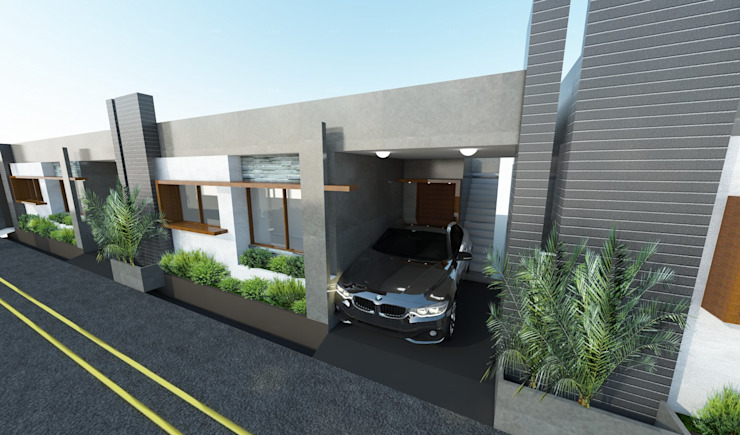 Row houses at Medahalli, Bangalore Modern houses by Lumous design Consultants Modern