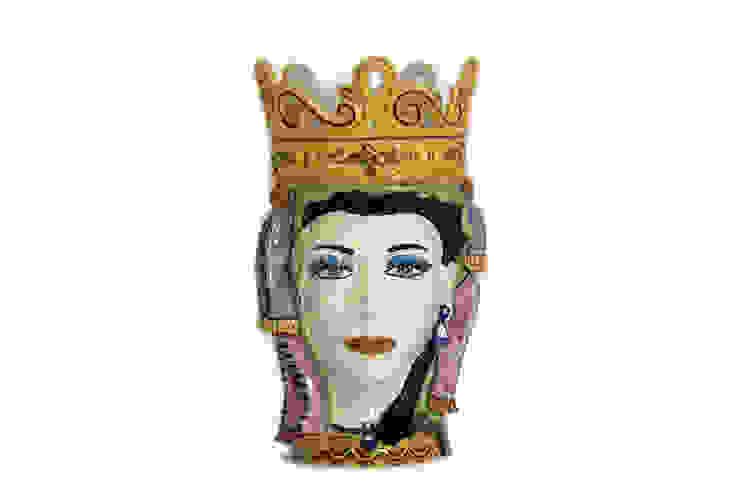 Testa Donna CEAR Ceramiche Azzaro & Romano Srl ArteAltri oggetti d'arte Ceramica Variopinto
