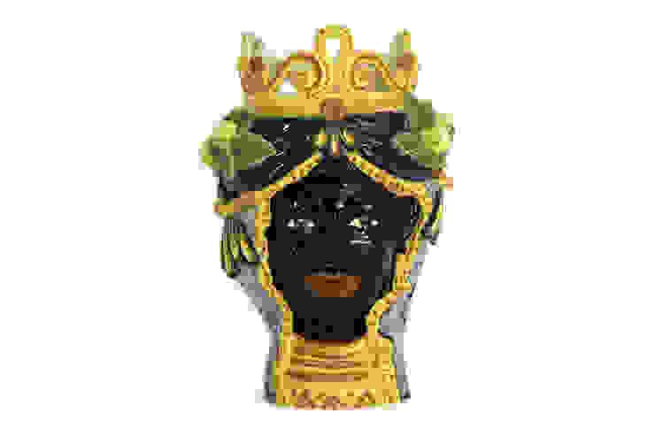 Testa moro Donna CEAR Ceramiche Azzaro & Romano Srl Case in stile mediterraneo Ceramica Variopinto