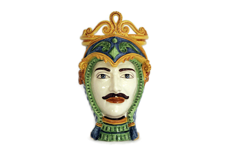 Testa Uomo CEAR Ceramiche Azzaro & Romano Srl ArteAltri oggetti d'arte Ceramica Variopinto