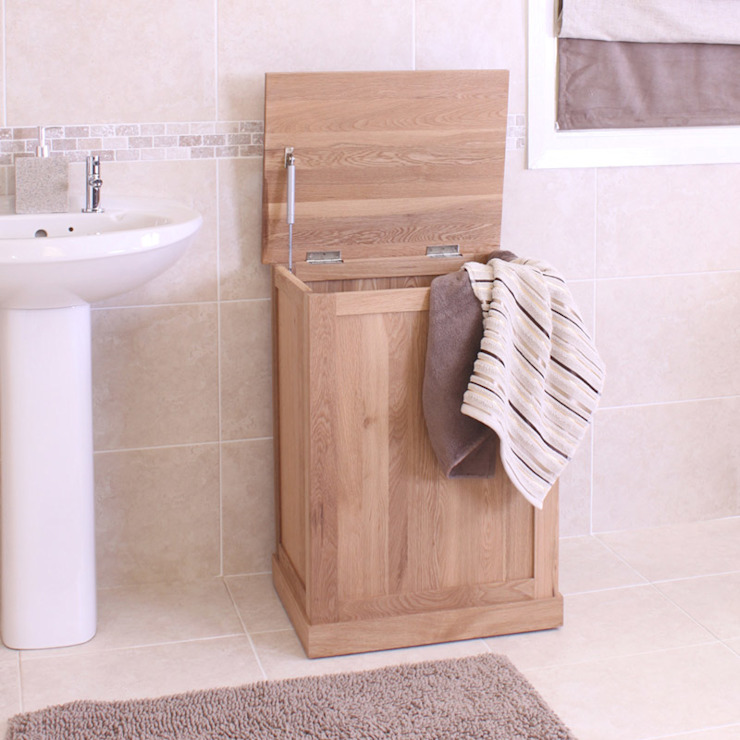 Mobel Oak Laundry Bin por Asia Dragon Furniture from London Moderno