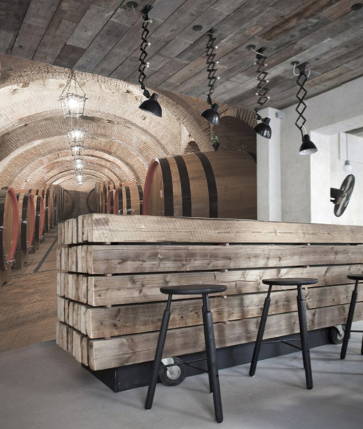 wine:  in stile industriale di Creativespace Sartoria Murale, Industrial