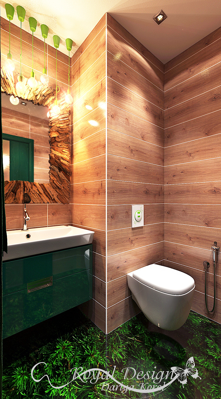 Your royal design Minimalist bathroom Wood effect