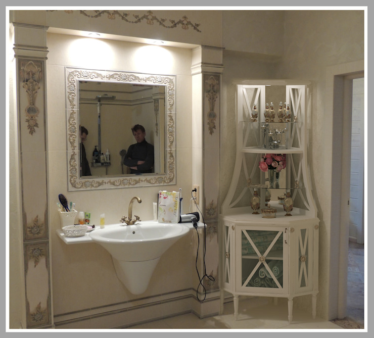 Этажерка для ванной комнаты .Эскиз в интерьере от Рязанова Галина Классический