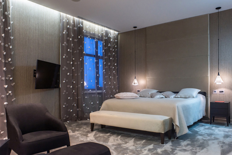 Квартира в <q>Ark Palace</q> Спальня в стиле минимализм от Kristina Petraitis Design House Минимализм