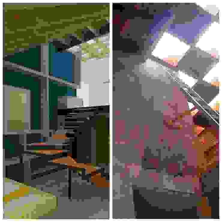 Recámara en Loft. 1 Recámaras eclécticas de Molcajete Arquitectura Interiores Diseño Ecléctico
