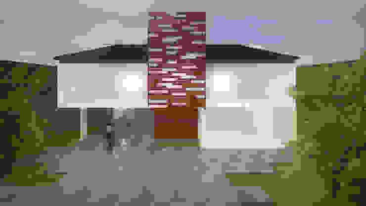 Fachada de la Residencia TLX Casas eclécticas de Molcajete Arquitectura Interiores Diseño Ecléctico