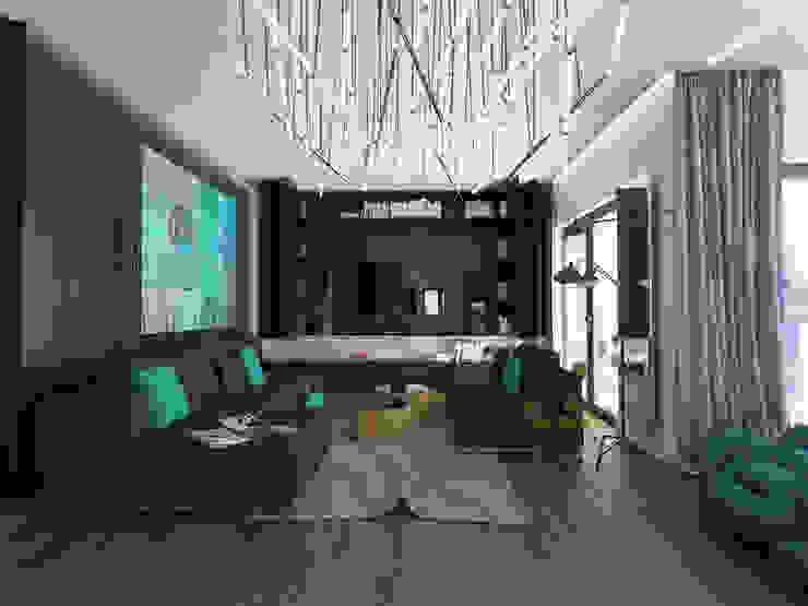 Modern Living Room by emc|partners Modern MDF