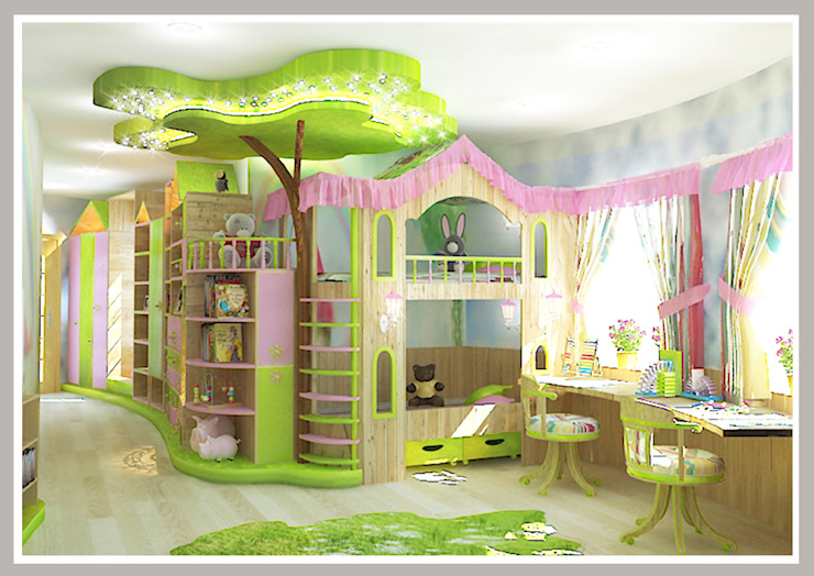 Eclectic style nursery/kids room by Рязанова Галина Eclectic