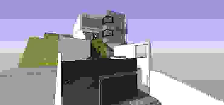 Fachada del depósito MARATEA estudio Casas de estilo minimalista