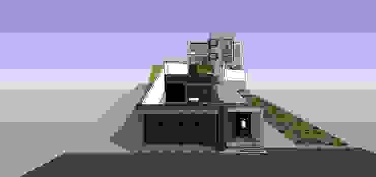 Vista desde la calle MARATEA estudio Casas de estilo minimalista