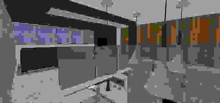 Estar intimo para Tv. Salas de entretenimiento de estilo minimalista de MARATEA estudio Minimalista