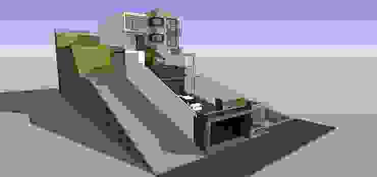 Vista externa Casas de estilo minimalista de MARATEA estudio Minimalista