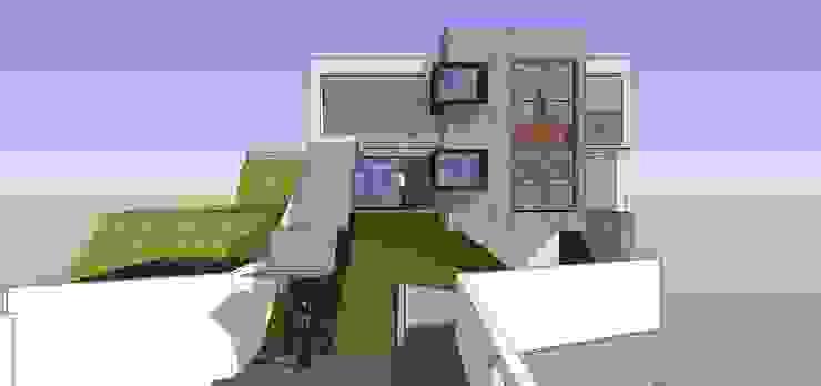 Fachada principal de la vivienda MARATEA estudio Casas de estilo minimalista