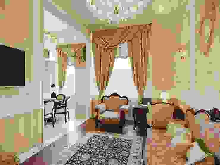 غرفة المعيشة تنفيذ Студия Павла Полынова, كلاسيكي