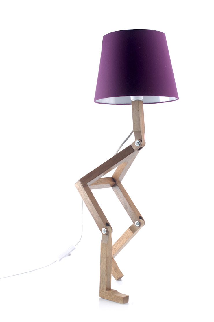 Cromalux Sistemas de Iluminação Ltda 臥室照明 木頭 Purple/Violet