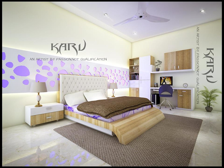 BEDROOM Modern style bedroom by KARU AN ARTIST Modern
