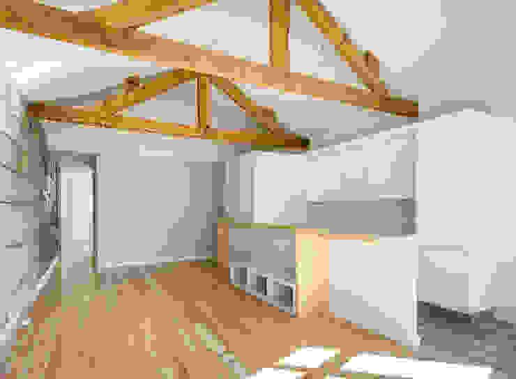 Taipas_1 Salas de estar modernas por XYZ Arquitectos Associados Moderno