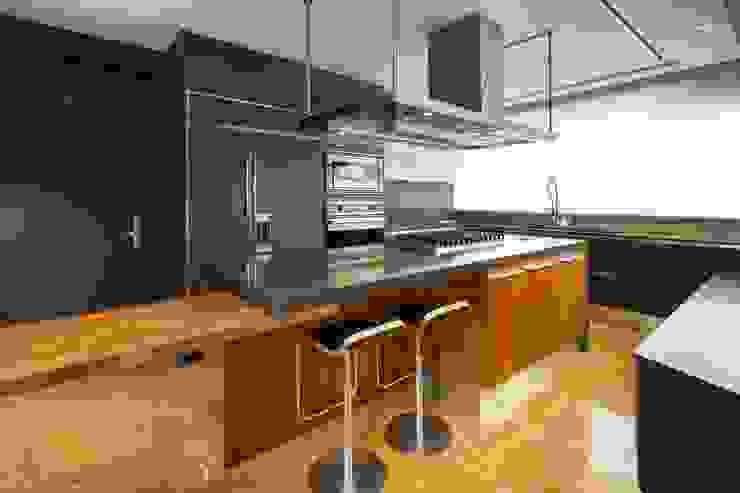Penthouse Punto Central Cocinas modernas de Línea Vertical Moderno