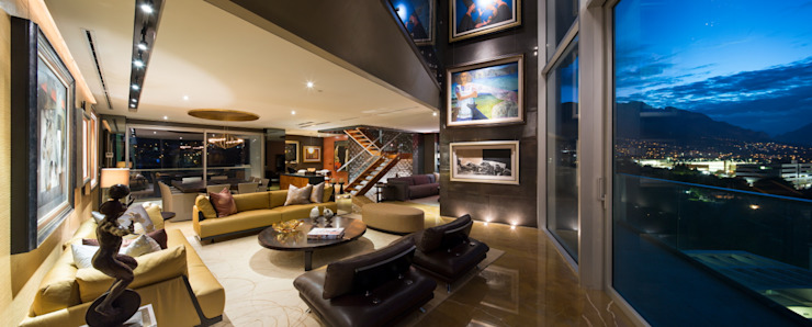 Salas de estilo moderno de Línea Vertical Moderno