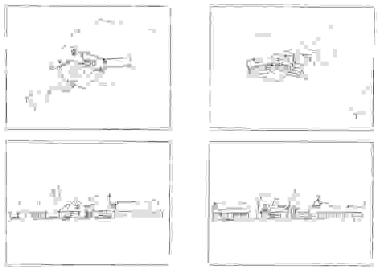 Alternatieve schetsen landelijk gelegen vrijstaande villa in boerderij-stijl van 01 Architecten