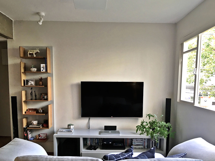 Modern living room by MANAA ARQUITETURA Modern