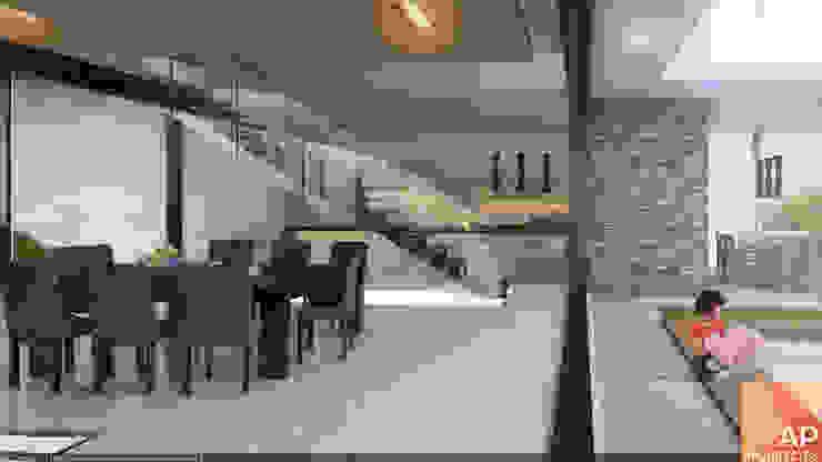AParquitectos Modern dining room Stone Grey