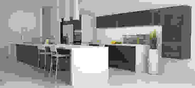 AParquitectos Modern kitchen Quartz Grey