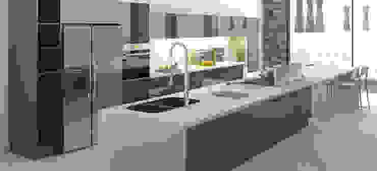 AParquitectos Modern kitchen Stone Grey