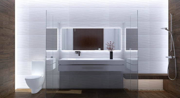Modern bathroom by AParquitectos Modern Tiles