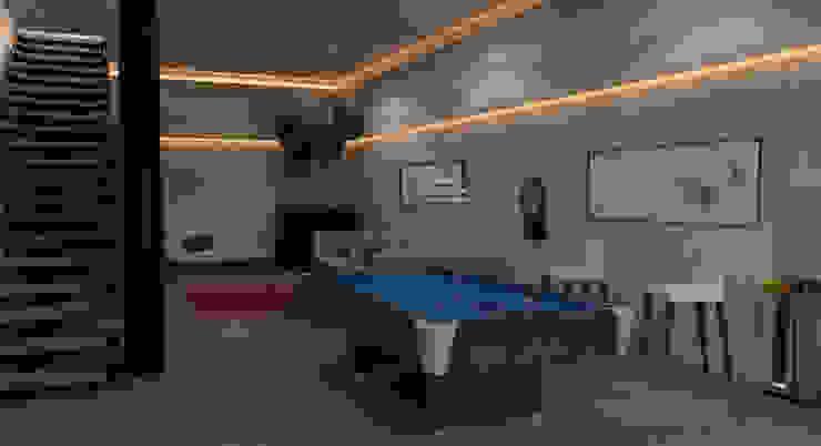 AParquitectos Modern style bedroom Concrete Grey