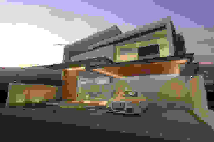 Fachada de noche Casas modernas de AParquitectos Moderno