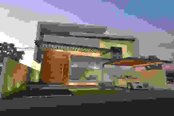 Fachada de día Casas modernas de AParquitectos Moderno