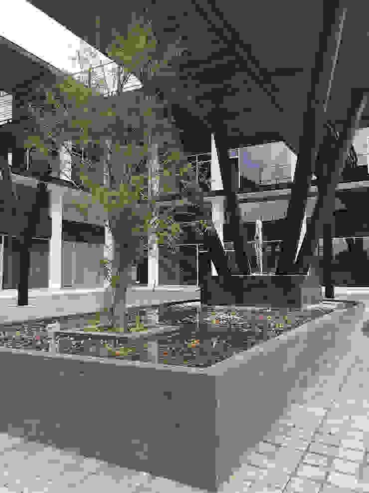 Detalle estructura-fuente Centros comerciales de estilo moderno de AParquitectos Moderno Hierro/Acero
