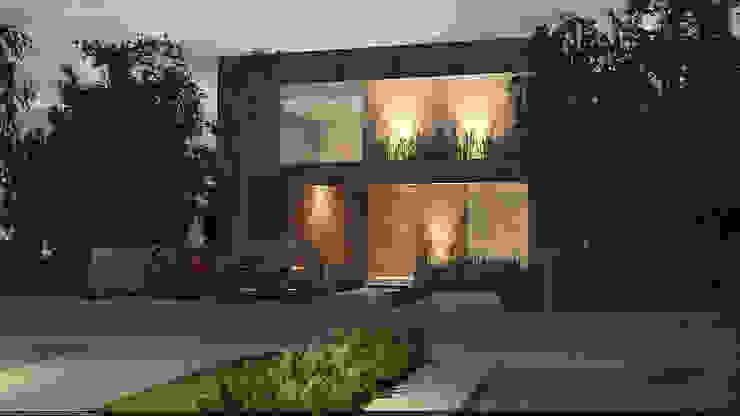 Fachada iluminada Casas modernas de AParquitectos Moderno