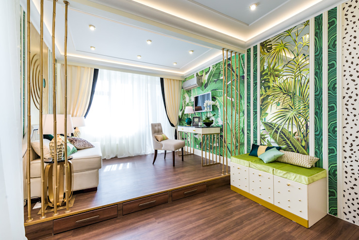 Salas de estilo tropical de Tony House Interior Design & Decoration Tropical
