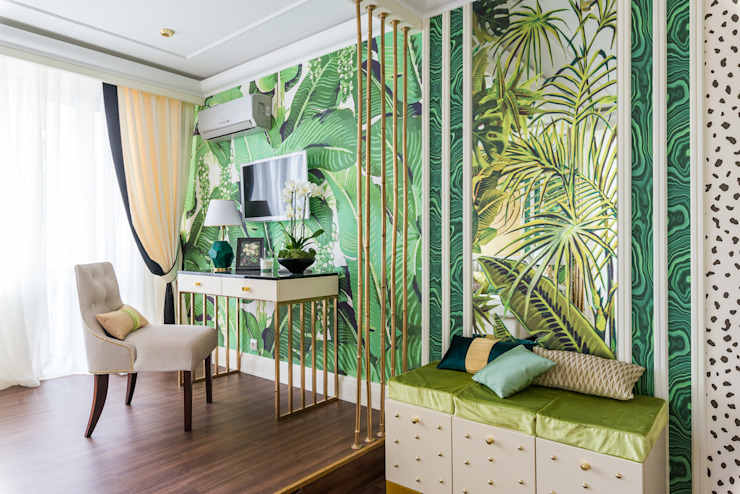 Salas multimedia de estilo tropical de Tony House Interior Design & Decoration Tropical