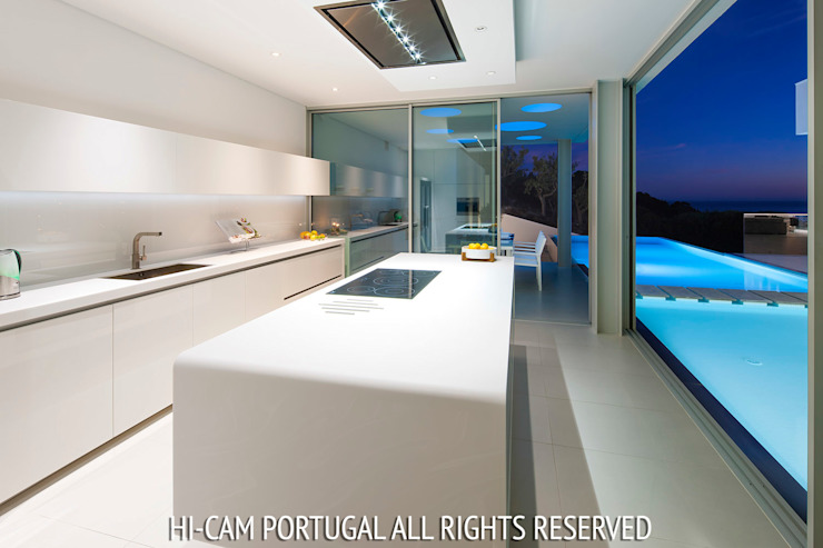 Villa Escarpa Hi-cam Portugal Cozinhas modernas