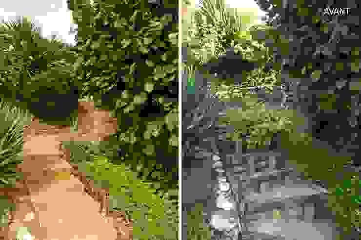 Avant / Après Escalier extérieur par Constans Paysage Moderne