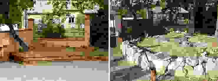 Avant / Après Rétention de terres Jardin moderne par Constans Paysage Moderne
